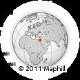 Outline Map of Naẖal Shittim, rectangular outline