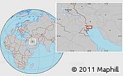 Gray Location Map of Ābādān