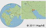 Savanna Style Location Map of Ābādān