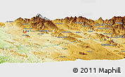 """Physical Panoramic Map of the area around 30°13'46""""N,51°4'30""""E"""