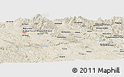 """Shaded Relief Panoramic Map of the area around 30°13'46""""N,51°4'30""""E"""