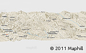 """Shaded Relief Panoramic Map of the area around 30°13'46""""N,51°55'29""""E"""