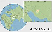 Savanna Style Location Map of Solţān Moḩammad