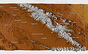 Physical 3D Map of Abū Naşr