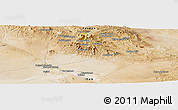Satellite Panoramic Map of Estakhr-e Derāz