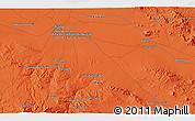 Political 3D Map of Ḩoseynābād-e Solţānī