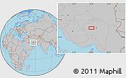 Gray Location Map of Ḩoseynābād-e Solţānī