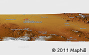 Physical Panoramic Map of Ḩoseynābād-e Solţānī
