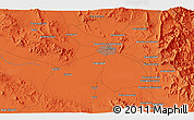 """Political 3D Map of the area around 30°13'46""""N,57°1'29""""E"""