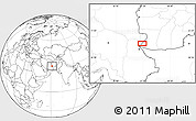 """Blank Location Map of the area around 30°13'46""""N,61°16'29""""E"""