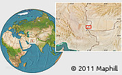 """Satellite Location Map of the area around 30°13'46""""N,61°16'29""""E"""