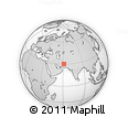 """Outline Map of the Area around 30° 13' 46"""" N, 61° 16' 29"""" E, rectangular outline"""