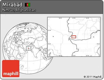 Blank Location Map of Mīrābād