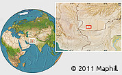 """Satellite Location Map of the area around 30°13'46""""N,62°58'30""""E"""