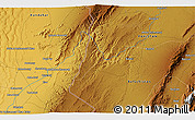 """Physical 3D Map of the area around 30°13'46""""N,66°22'30""""E"""