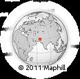 Outline Map of Bashām, rectangular outline