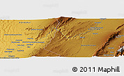 """Physical Panoramic Map of the area around 30°13'46""""N,66°22'30""""E"""