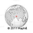 Outline Map of Loralai, rectangular outline