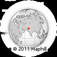 Outline Map of Dera Ghāzi Khān, rectangular outline