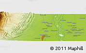Physical Panoramic Map of Dera Ghāzi Khān