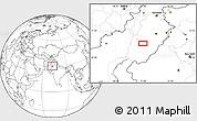 Blank Location Map of Multān