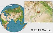 Satellite Location Map of Multān