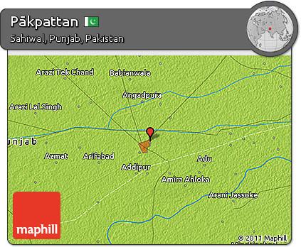 Free Physical D Map Of Pākpattan - Pakpattan map