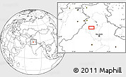 """Blank Location Map of the area around 30°13'46""""N,75°43'29""""E"""