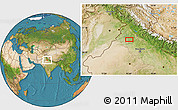 """Satellite Location Map of the area around 30°13'46""""N,75°43'29""""E"""