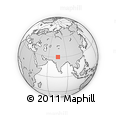 """Outline Map of the Area around 30° 13' 46"""" N, 75° 43' 29"""" E, rectangular outline"""