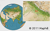 """Satellite Location Map of the area around 30°13'46""""N,76°34'29""""E"""