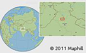 "Savanna Style Location Map of the area around 30°13'46""N,76°34'29""E"