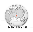 """Outline Map of the Area around 30° 13' 46"""" N, 76° 34' 29"""" E, rectangular outline"""