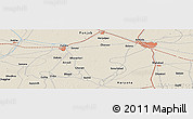 Shaded Relief Panoramic Map of Patiāla