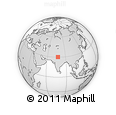Outline Map of Badhauli, rectangular outline