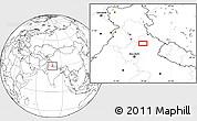 Blank Location Map of Badrīpur