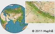 Satellite Location Map of Badrīpur