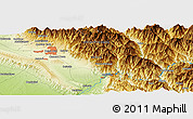 Physical Panoramic Map of Dehra Dūn