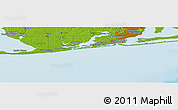"""Physical Panoramic Map of the area around 30°13'46""""N,87°28'29""""W"""