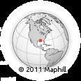 Outline Map of Mandeville, rectangular outline
