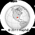 Outline Map of 734 Hidden Hills Rd, rectangular outline
