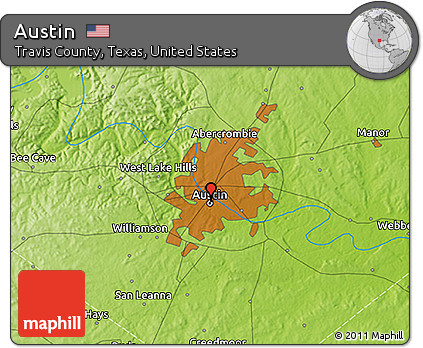 3d Map Of Texas.Free Physical 3d Map Of Austin