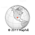 Outline Map of Austin, rectangular outline