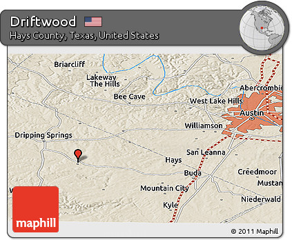Map Of Texas Kyle.Free Shaded Relief Panoramic Map Of Driftwood