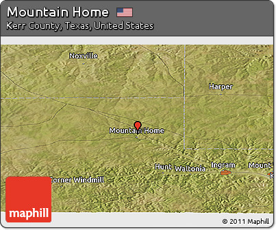 Free Satellite Panoramic Map of Mountain Home