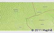 Physical 3D Map of Ghadāmis