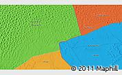 Political 3D Map of Ghadāmis