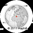 Outline Map of Ghadāmis, rectangular outline