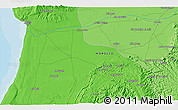 Political 3D Map of Agadir