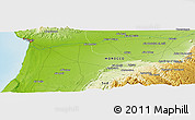 "Physical Panoramic Map of the area around 30° 13' 46"" N, 9° 16' 30"" W"